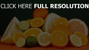 obst zitrusfrüchte orangen limonen mandarinen