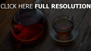 tee trinken tasse wasserkocher tisch