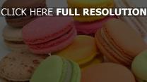 makronen bunt süßigkeiten dessert