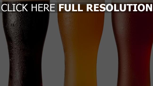 hd hintergrundbilder bier gläser schaum verschiedene