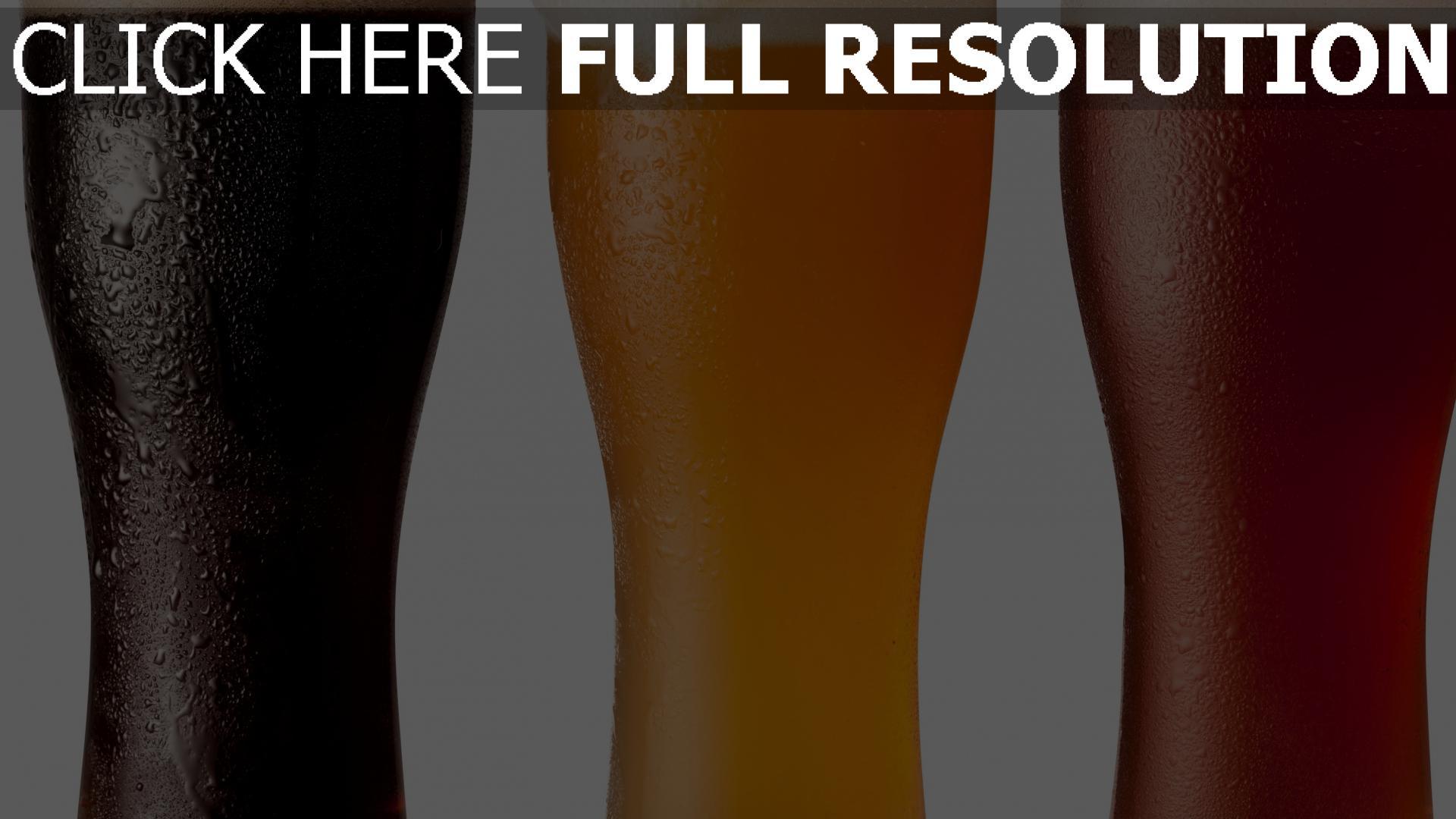 hd hintergrundbilder bier gläser schaum verschiedene 1920x1080