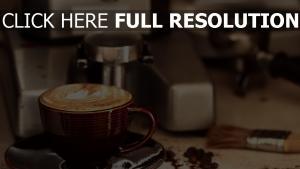 kaffee crema tasse untertasse trinken
