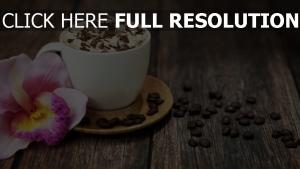 kaffee crema getreide schokolade blumen