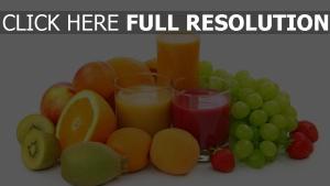 saft obst trauben zitrusfrüchte aprikosen orange