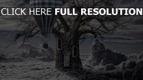 ballon baum wolken stamm