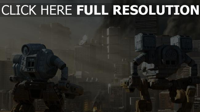 hd hintergrundbilder wolkenkratzer menschen stadt aufregung roboter zerstörung