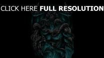 tentakeln dämon hörner malerei
