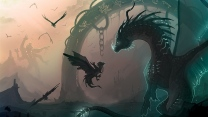 kette vögel junge drache