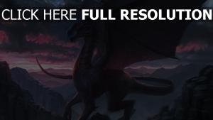 malerei felsen fantasie drachen