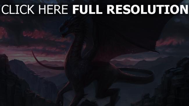 hd hintergrundbilder malerei felsen fantasie drachen