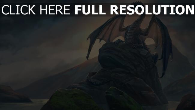 hd hintergrundbilder steine drachen felsen malerei