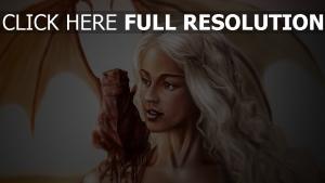 flügel mädchen blonde klauen kreatur schulter