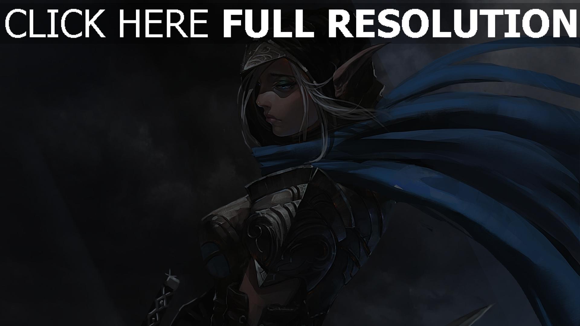 HD Hintergrundbilder Rüstung Mädchen Schwert Elf Fantasie