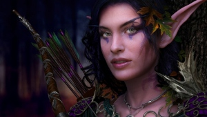 bogen pfeile make-up mädchen elf