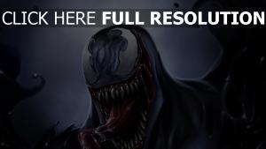 eddie brock malerei venom symbionten monster