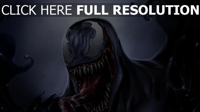 hd hintergrundbilder eddie brock malerei venom symbionten monster