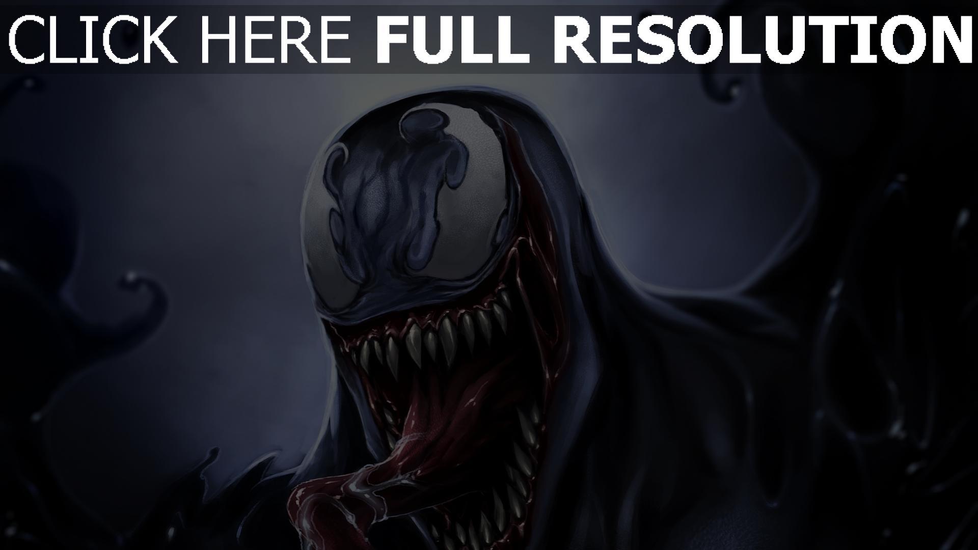 hd hintergrundbilder eddie brock malerei venom symbionten monster 1920x1080