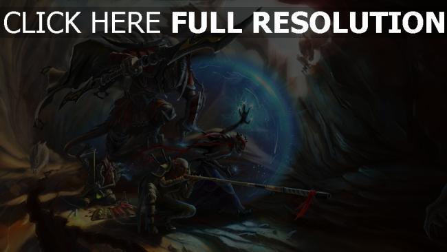 hd hintergrundbilder schlacht fantasie rüstung höhle krieger malerei