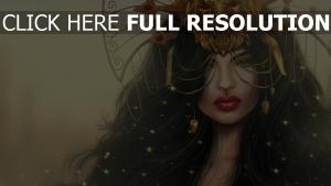 mädchen maske löwe make-up fantasie malerei