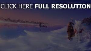 kälte kreatur weg schnee mädchen