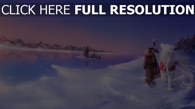 hd hintergrundbilder kälte kreatur weg schnee mädchen