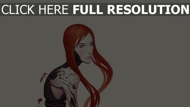 hd hintergrundbilder mädchen haar roboter cyborgs