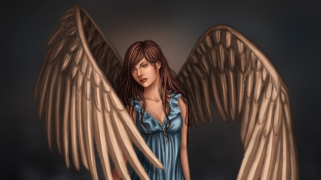 hd hintergrundbilder wasser fantasie kleid flügel malerei mädchen
