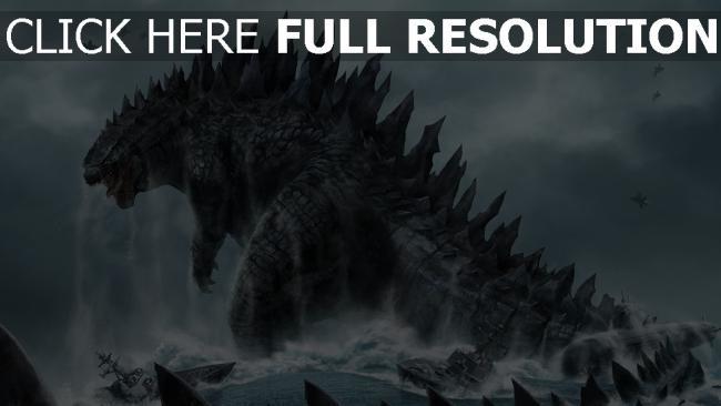 hd hintergrundbilder dinosaurier godzilla schwanz monster u-boot