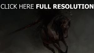 malerei reiter pferd wizard