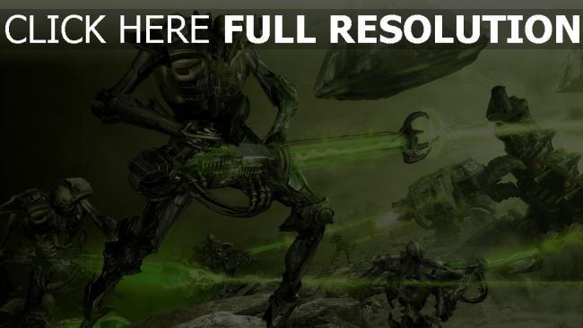 hd hintergrundbilder waffen kampf roboter laser kreatur