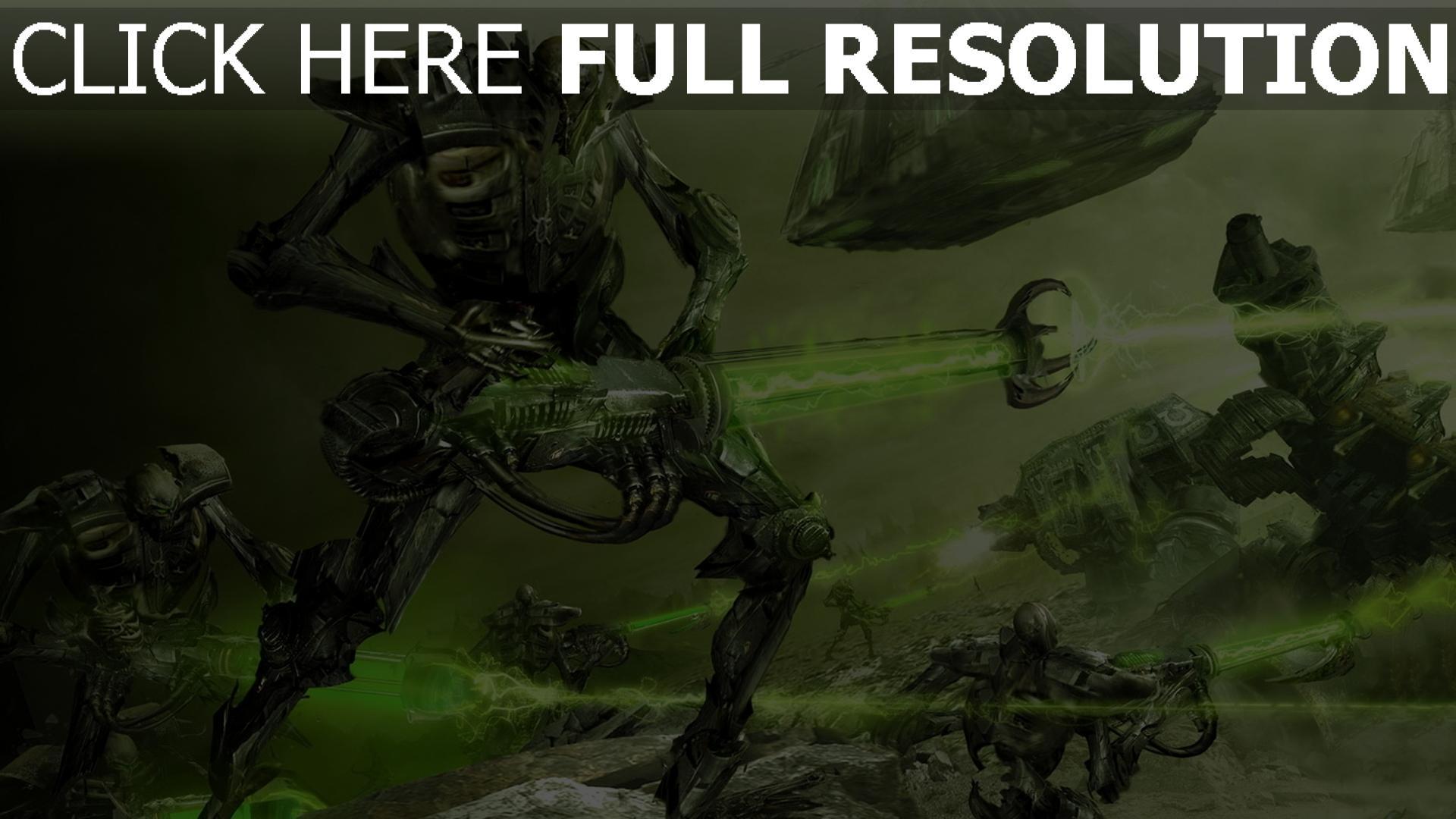hd hintergrundbilder waffen kampf roboter laser kreatur 1920x1080