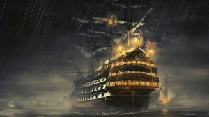 regen meer schiffe licht