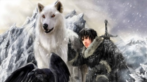 spiel der throne direwolf jon snow gespenst das lied von eis und feuer stark clan