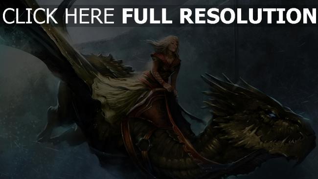 hd hintergrundbilder mädchen das lied von eis und feuer spiel der throne flug königin alysanne kälte drachen