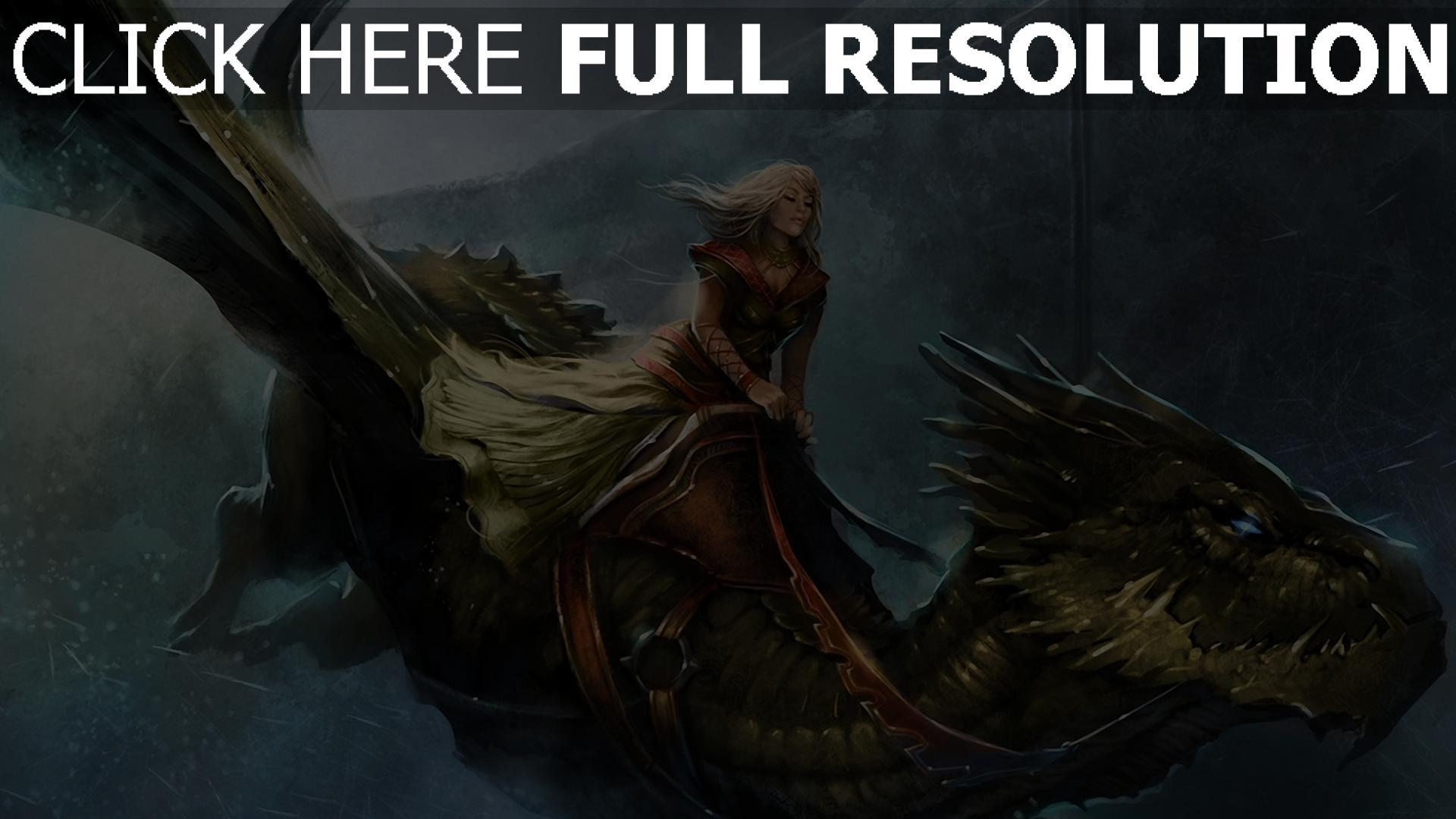 hd hintergrundbilder mädchen das lied von eis und feuer spiel der throne flug königin alysanne kälte drachen 1920x1080