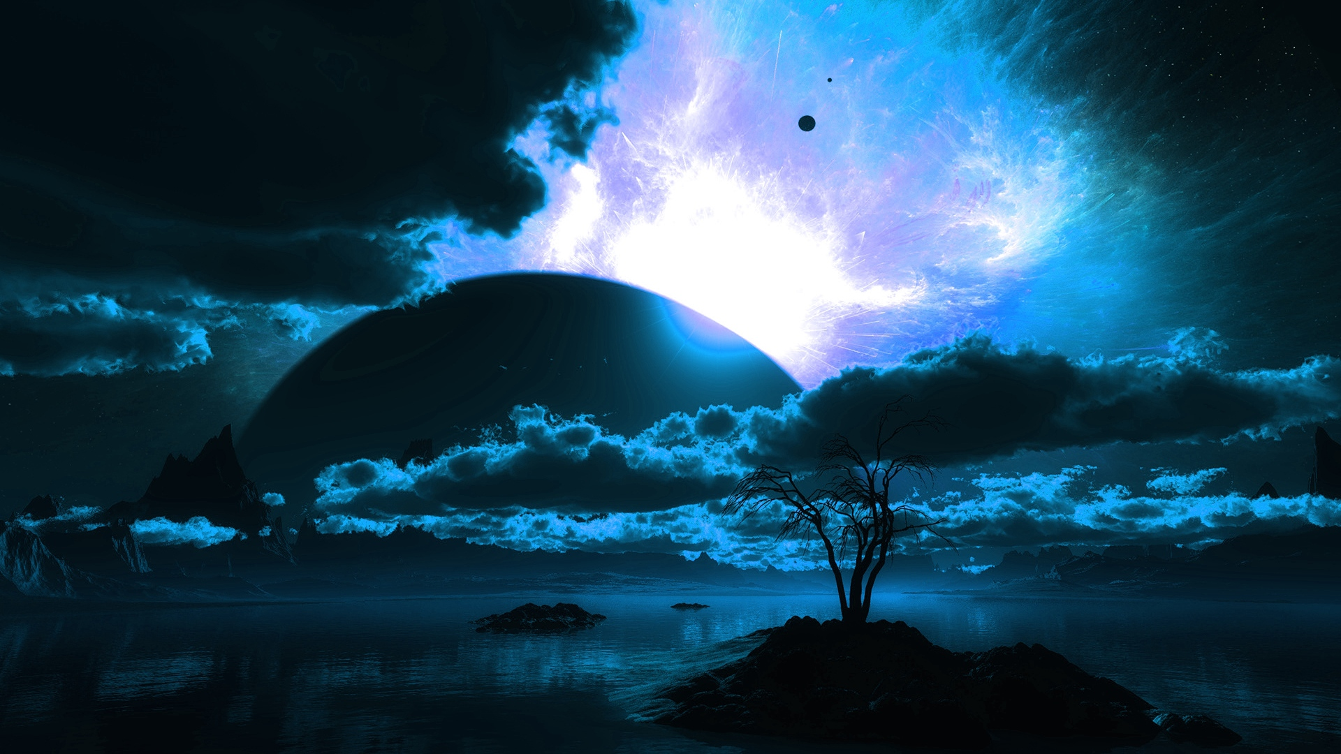 hd hintergrundbilder planet nacht landschaft wolken himmel  desktop hintergrund