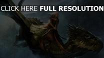 mädchen drachen schuppe flügel flug