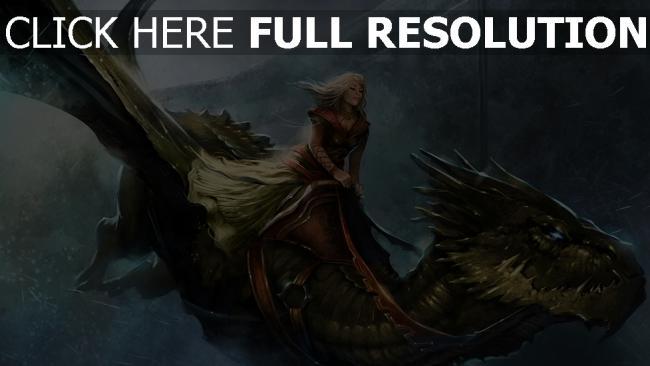 hd hintergrundbilder mädchen drachen schuppe flügel flug