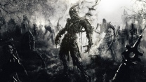 zombies friedhof schwarz und weiß art