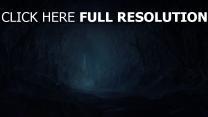 steine felsen wald bäume dunkel schloss