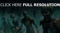 skelette zombies armee rüstung schild