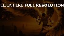 engel flügel feuer federn