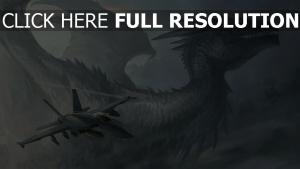 drache wings regenbogen flugzeuge himmel