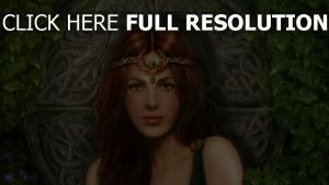 mädchen prinzessin tiara schmuck efeu
