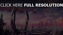 metropole zukunft planet ringe transport