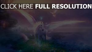pegasus pferd flügel küste berge