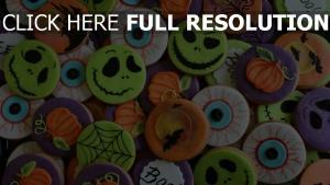 halloween plätzchen feier bunt