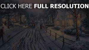 weihnachten feiertag straße schnee winter