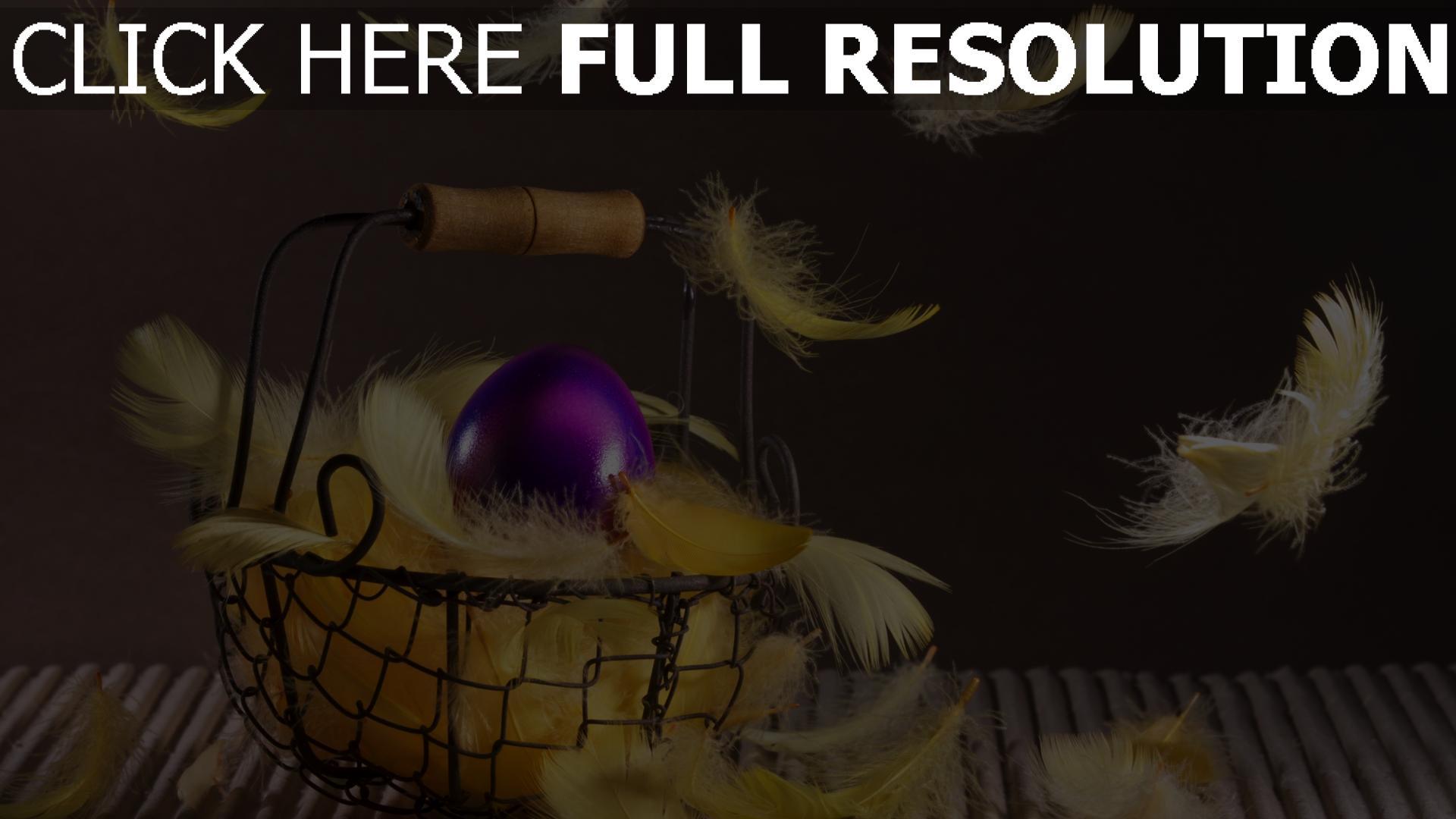 Hintergrundbilder Kostenlos Ostern hd hintergrundbilder ostern korb ei federn desktop hintergrund