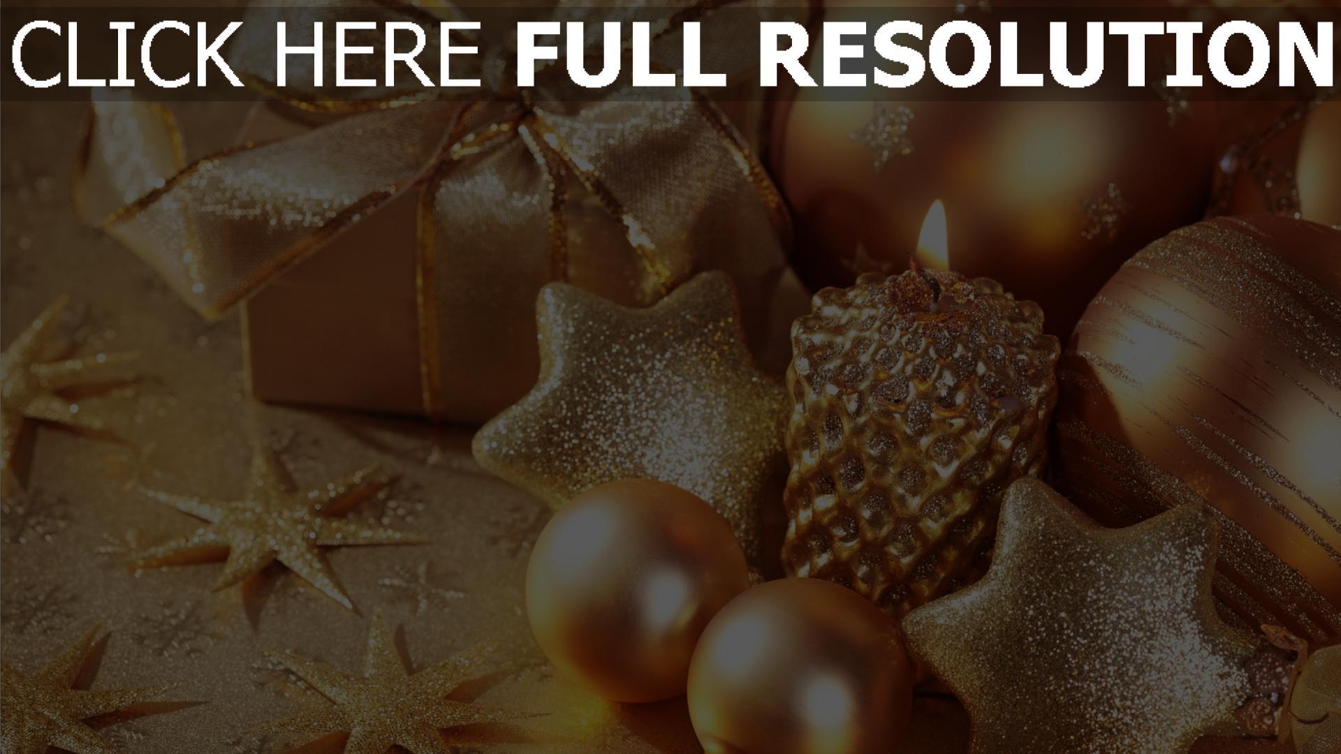 HD Hintergrundbilder kerzen glitter sterne geschenk weihnachten ...
